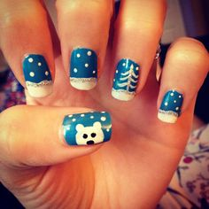 Winter nails by Grace Garside