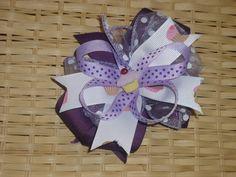 Purple Cupcake Hair Bow $4.50