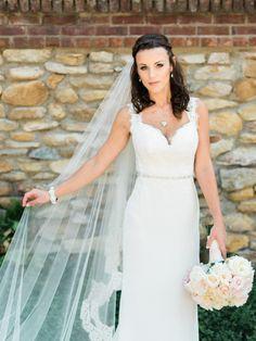 Wedding Dress: JLM Couture, Inc - http://www.stylemepretty.com/portfolio/jlm-couture Photography: Marcie Meredith Photography - http://www.stylemepretty.com/portfolio/marcie-meredith-photography   Read More on SMP: http://www.stylemepretty.com/2015/12/22//