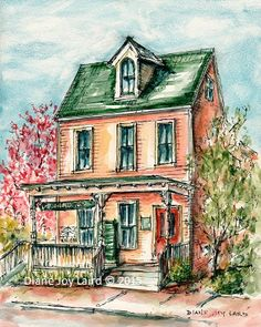 """The Gallery on Cannon Street painted for a """"Quick Draw"""" at Paint the Town 2015 Chestertown. Quick Draw, Ink Drawings, Cannon, Street, House Styles, Gallery, Simple, Painting, Art"""