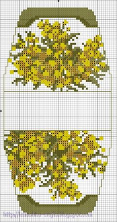 "Flowering Almond -Yellow flowers.  Gallery.ru / Ключ.Сумочка-игольница ""Божьи коровки"" - Схемы. Сумочки - игольницы - Lenu"