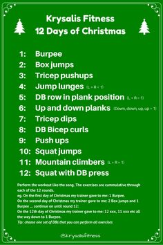 Fun 12 Days of Christmas #workout - must do this with the family ...