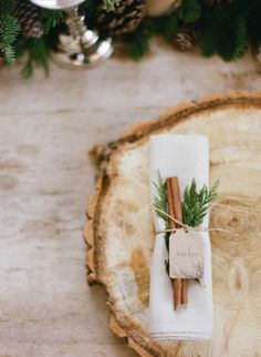 Cinnamon Stick in Napkin | photography by http://jacquelynnphoto.com/