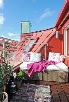 Dachgarten - Dachterrasse - Dachgarten Ideen - kleine Dachterrasse