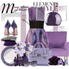 """""""Many Shades of Violet"""" by maddycruise on Polyvore"""