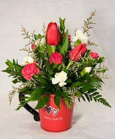 valentine's day flowers pictures   Valentine's Day Mug Arrangement