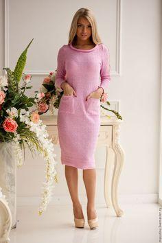 """Платья ручной работы. Ярмарка Мастеров - ручная работа. Купить Платье """"Глазурь"""". Handmade. Розовый, купить подарок"""