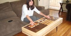 Play retro Nintendo games with this wood table that doubles as a controller