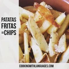 Mmmmm homemade chips  #homemade #homecooking #comidacasera #chips #patatasfritas We make #languagelearning fun! #aprenderingles #aprenderespañol #learnspanish #learnenglish #mfl #bilingual #cookingwithlanguages #cooking4kids #language #ahamijas #easyrecipe Watch out for our #Kickstarter campaign for new and exciting ideas! http://ift.tt/1UauStk