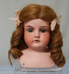 Armand Marseille Bisque Porcelain Mabel 5 0 Doll Head Only with Natural Wig | eBay