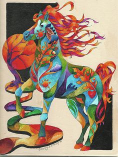275 best colorful horses images drawings of horses horse art rh pinterest com
