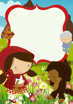 Little Red Ridding Hood, Red Riding Hood, Graphics Fairy, Kids Education, Parties, Scrapbook, Disney Princess, Disney Characters, Drawings