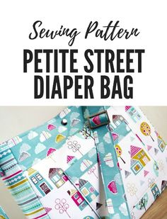 Versatile bag that has an adjustable strap, padding, plenty of pockets and a nice style for new moms. All the practicality of a diaper bag with the look of a smart purse. Handbag Patterns, Bag Patterns To Sew, Sewing Patterns, Apron Patterns, Baby Patterns, Diy Pouch No Zipper, Clutch Bag Pattern, Large Diaper Bags, Fabric Bags