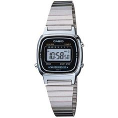 Casio Ladies Digital Wr Watch (12.265 HUF) ❤ liked on Polyvore featuring jewelry, watches, silver, digital wristwatch, sports jewelry, casio wrist watch, casio watches and sports watches