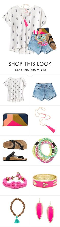 """""""Photo shoot w/friend:)"""" by kate-elizabethh ❤ liked on Polyvore featuring Old Navy, Levi's, FOSSIL, Fornash and Kendra Scott"""
