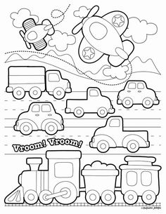 Train Coloring Pages, Dinosaur Coloring Pages, Preschool Coloring Pages, Free Printable Coloring Pages, Coloring Book Pages, Coloring Pages For Kids, Coloring Sheets, Coloring Worksheets, Fairy Coloring