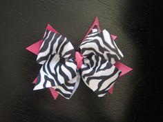 Hot Pink/Zebra Boutique Bow