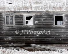 Title: Closed-Half-Open By: JTPhotoArt   Description: An abandoned barn with its windows in various conditions