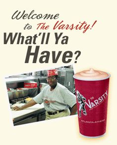 The Varsity, in Atlanta Georgia. Known as the World's largest drive-in restaurant. Real good. & good atmosphere, too.