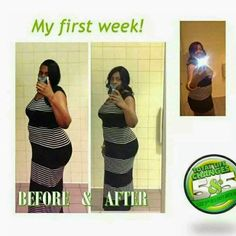 before and after results in 8 days from drinking Iaso Tea. Go to www.LoseItBysummer.com