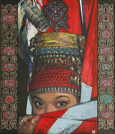 Gallery of Works Klimt Art, Astrological Elements, Mixed Media Artwork, Folk Costume, Central Asia, Kazakhstan, Artistic Photography, Islamic Art, Asian Art
