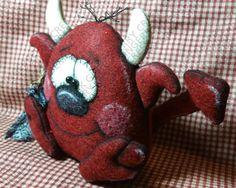 Little Diablo Devil Pattern 188 Primitive by GingerberryCreek