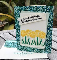 SU Garden Impressions DSP FMS#336 Abstract Impressions Thinking of You card ideas Michelle Gleeson Stampinup Stampin Up