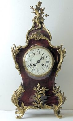 French Louis XV-style Mantle Clock