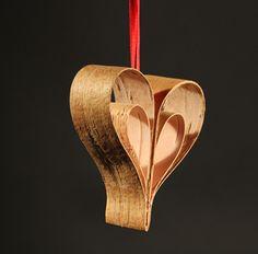 Näver-hjärta 8x8 cm