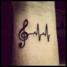 Music + heart. love this tattoo. #music