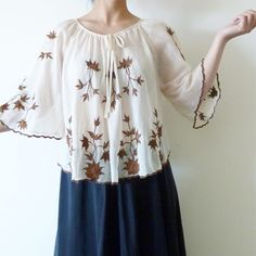 Beautiful vintage embroidery top Beautiful vintage embroidery top. Excellent condition. One Size fit all. Tops Tunics