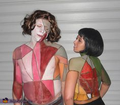 Gotye and Kimbra. Probably not the best costume for a relationship that's on the rocks. Needed: Face/body paint, wigs, tan-colored leggings or bodysuits and don't forget the heart-wrenching despair and depression! #halloween #couplescostumes