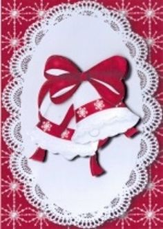 Red &amp White Christmas Bells by Gill Dean