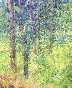 """Daily Paintworks - """"west woods"""" - Original Fine Art for Sale - © William  Shumway"""