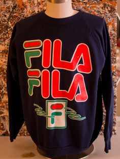 Vintage over sized FILA sweatshirt welcome by RunningWithMarbles, $80.00