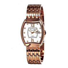 Bertha Women's Charlotte Rose Goldtone Analog Watch