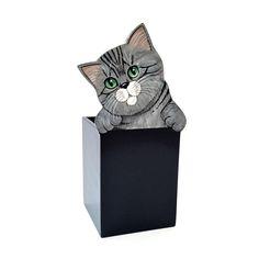 gattoso porta matite in legno dipinto a mano www.gattosi.com