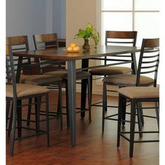 Simmons  5301-59 7 Piece Ethan Counter Height Dining Set | Hope Home Furnishings and Flooring