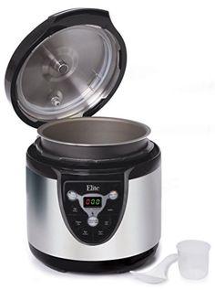 Elite Platinum EPC-607 Maxi-Matic 6 Quart Electric Pressure Cooker, Black (Stainless Steel) // http://cookersreview.us/product/elite-platinum-epc-607-maxi-matic-6-quart-electric-pressure-cooker-black-stainless-steel/  #cooker #pressure #electric