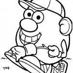 Mr. Potatohead coloring page