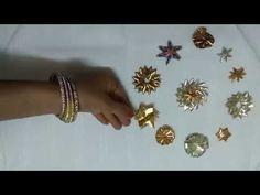 How to make gota designer star flower - flower design 1 - YouTube