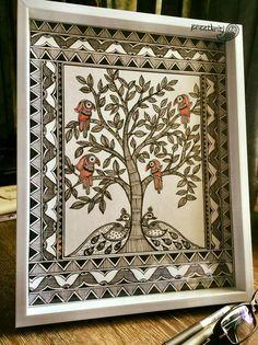 Wall Drawing Kids Artworks 43 New Ideas Painting Patterns, Fabric Painting, House Painting, Birdhouse Craft, Kalamkari Painting, Madhubani Art, Indian Folk Art, Wall Drawing, Life Drawing