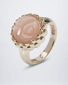 Zauberhafter Goldring mit Mondstein von Sogni d´oro #sognidoro #sogni #doro #Schmuck #Edelsteine #jewelry #gemstones