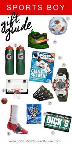 Grab some fun and creative gifts for the sports boy in your life.  Use our Sports Holiday Gift Guide for the boy, tween or teen in your life.