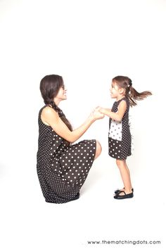 The Matching Dots SS14 Collection. Available on www.thematchingdots.com Feb 2014. #dots #matching #outfits #mommyandme #mother #daughter #black and #white #dotted #fashion #BE #SPOTTED #designer #dresses #kids #fashion