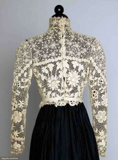 IRISH CROCHET LACE BLOUSE, c. 1905. Back