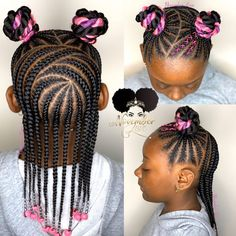Hairstyles For Kids Black Christmas - Hairstyles Toddler Braided Hairstyles, Toddler Braids, Black Kids Hairstyles, Girls Natural Hairstyles, Braids For Kids, Girls Braids, Toddler Hair, Little Girl Hairstyles, Cute Hairstyles
