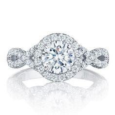 Tacori 0.75 Carat Round Diamond Halo Ring
