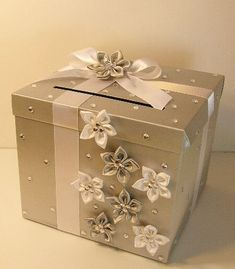 Wedding Card Box White Gift Card Box Money Box by bwithustudio