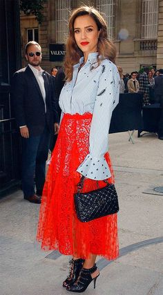 Street style look Jessica Alba